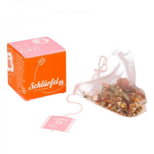 Schlürfel-Bio-Früchtetee GRIT (27 Würfel a 3,0 g)