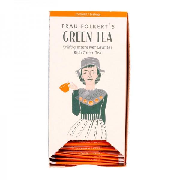 Büdel FRAU FOLKERTS Green Tea Bio (20 Büdel a 2g)
