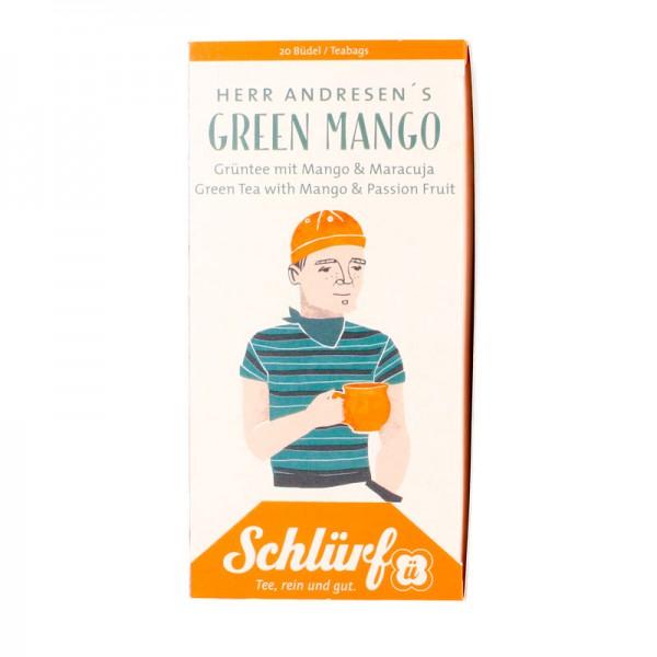 Büdel HERR ANDRESEN Green Mango Bio (20 Büdel a 1,75g)